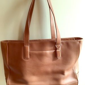 Coach Tote/Briefcase.  Brown leather.